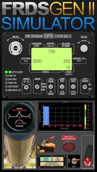 Simulator fire retardant dispersal system