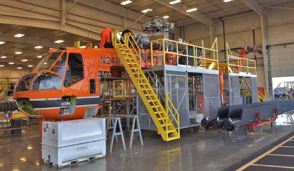 Maintenance on an Aircrane