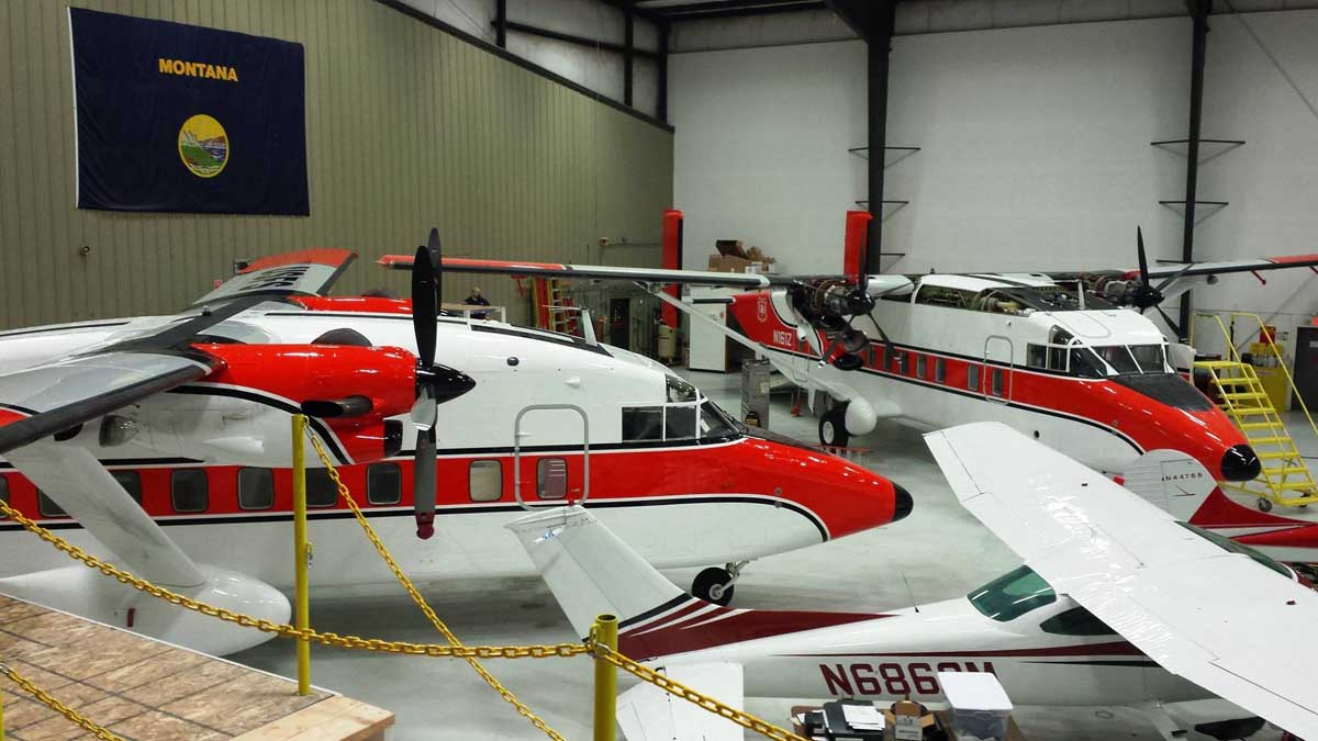 Neptune completes their part of the conversion process on two USFS Sherpas