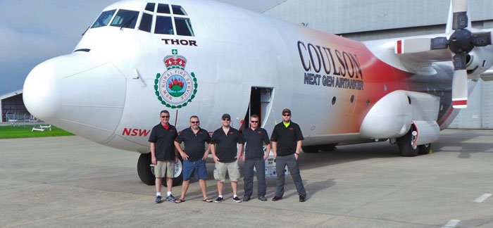 Tanker 132 fire crew