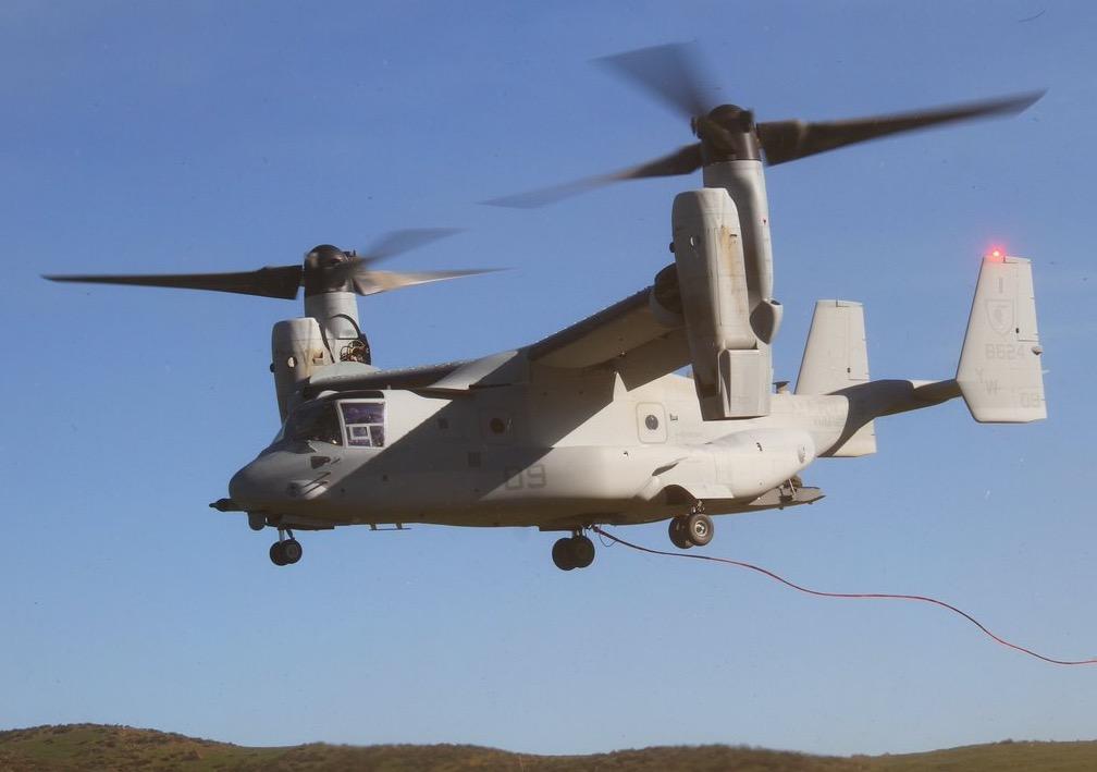 MV-22 Osprey wildfire evauation