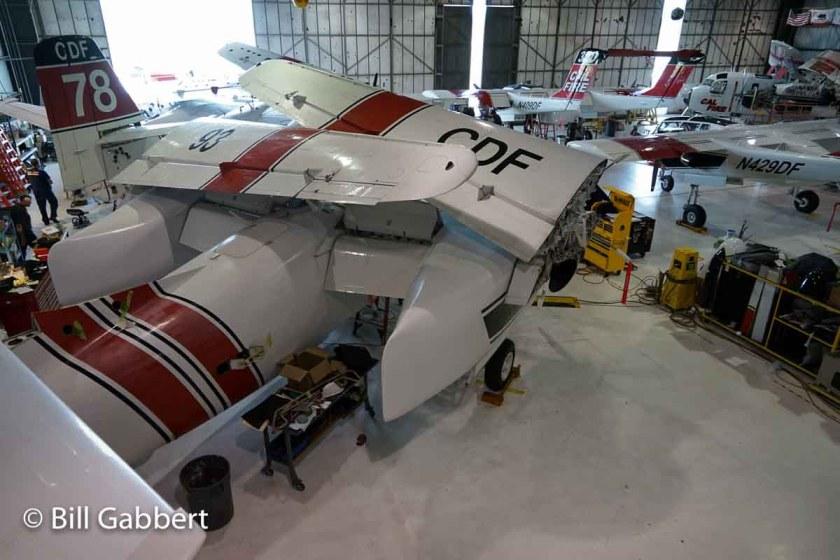 S-2T folded wings
