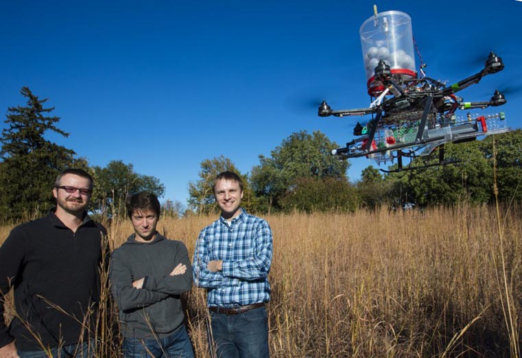 Univ of Nebraska fire drone
