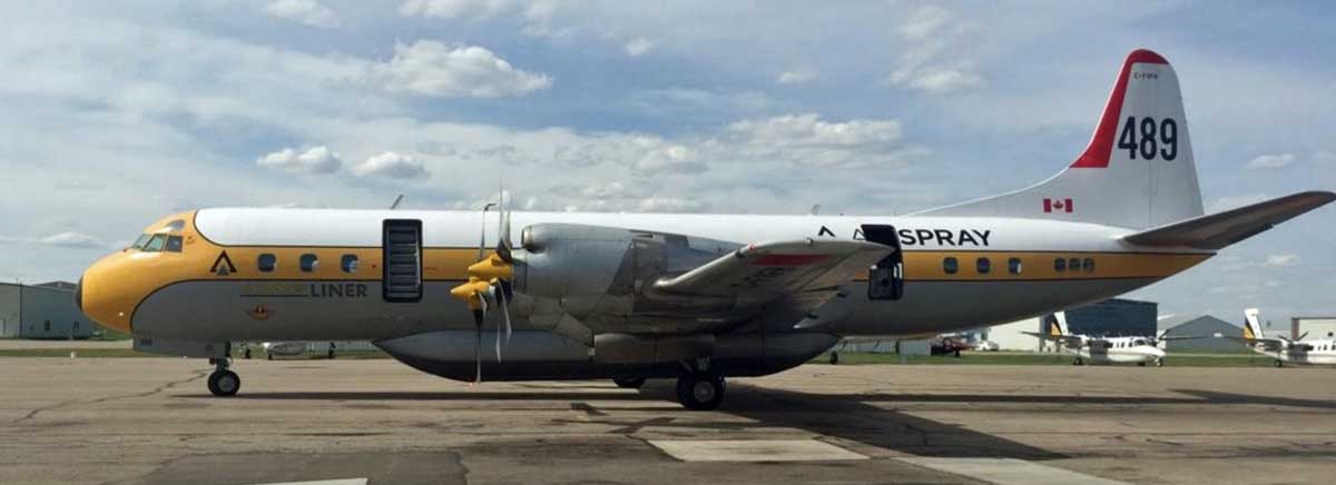 Air Spray readies an air tanker for Alberta 3 weeks ahead of schedule