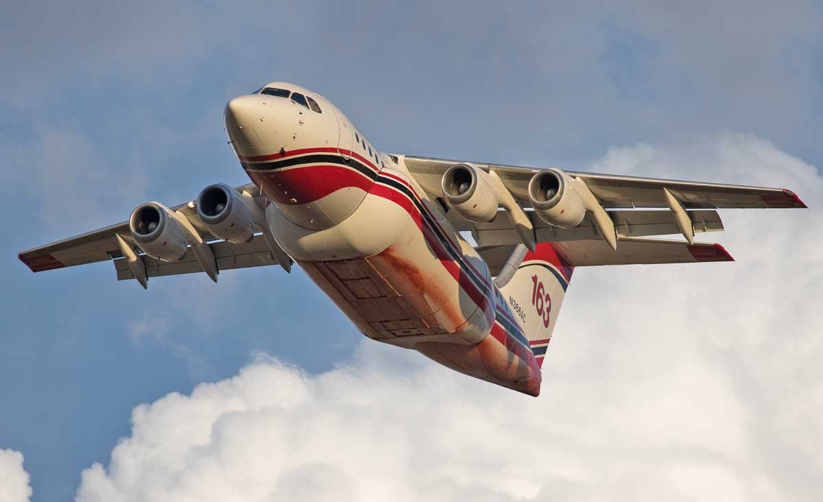Photos of air tankers departing from Medford