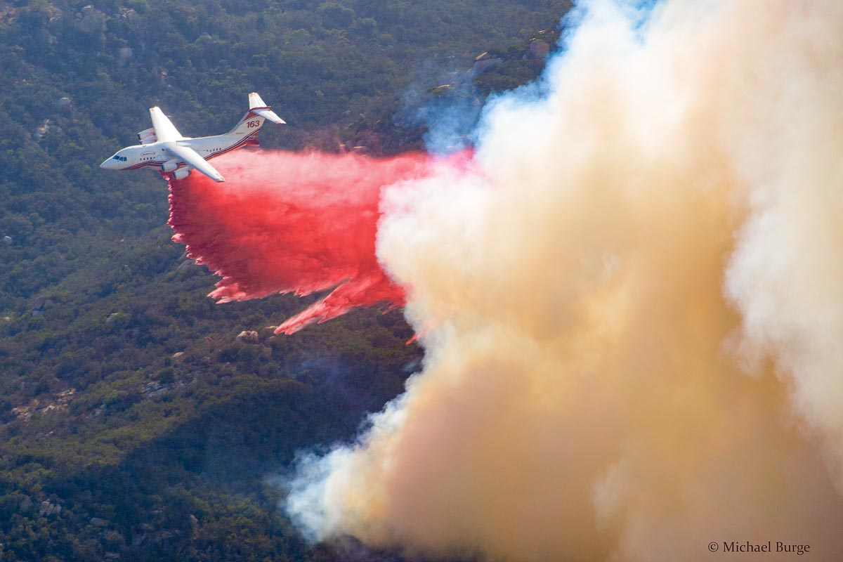 Aircraft on the Gopher Fire in southern California