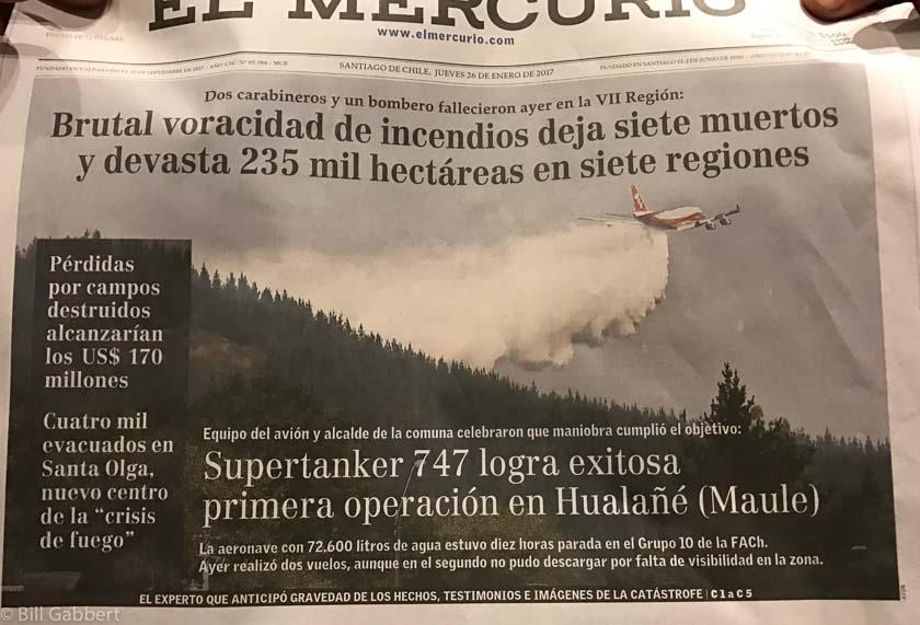 747 Supertanker in the Chilean media
