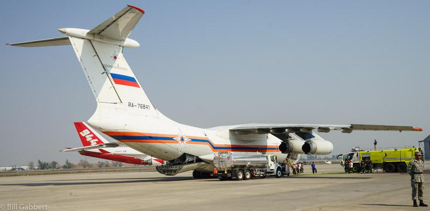 IL-76 russian air tanker