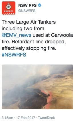 NSW RFS Carwoola Fire
