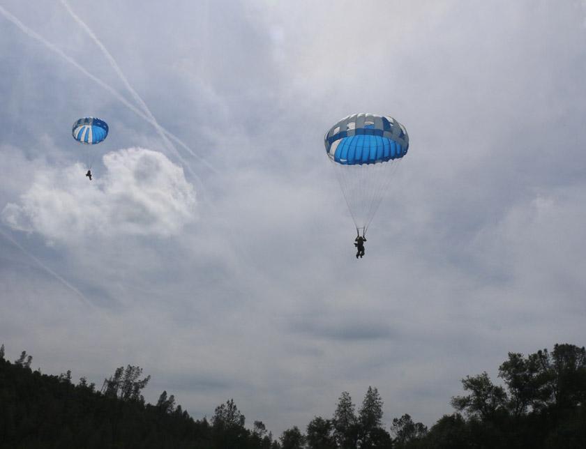 Photos from smokejumper training