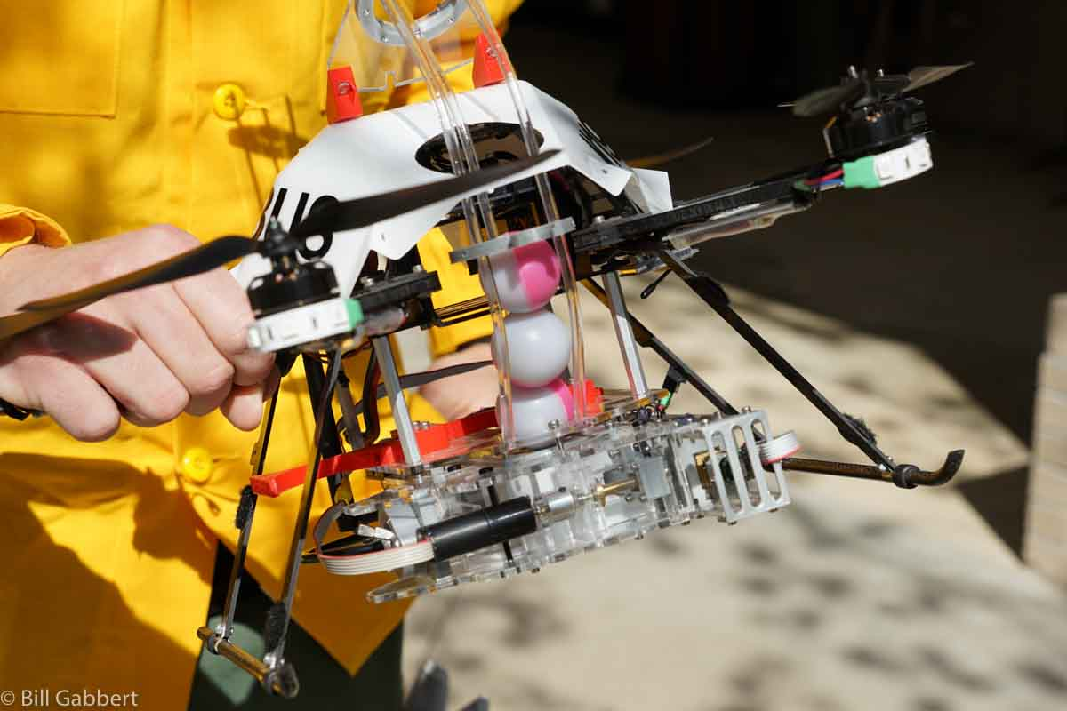 A drone being used for wildfire operations, by Bill Gabbert