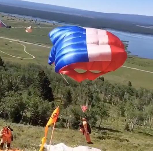 smokejumper square canopy & Smokejumper transition - round canopy to square - Fire Aviation