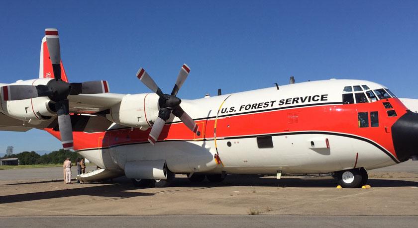 Air tanker 116 at Redding