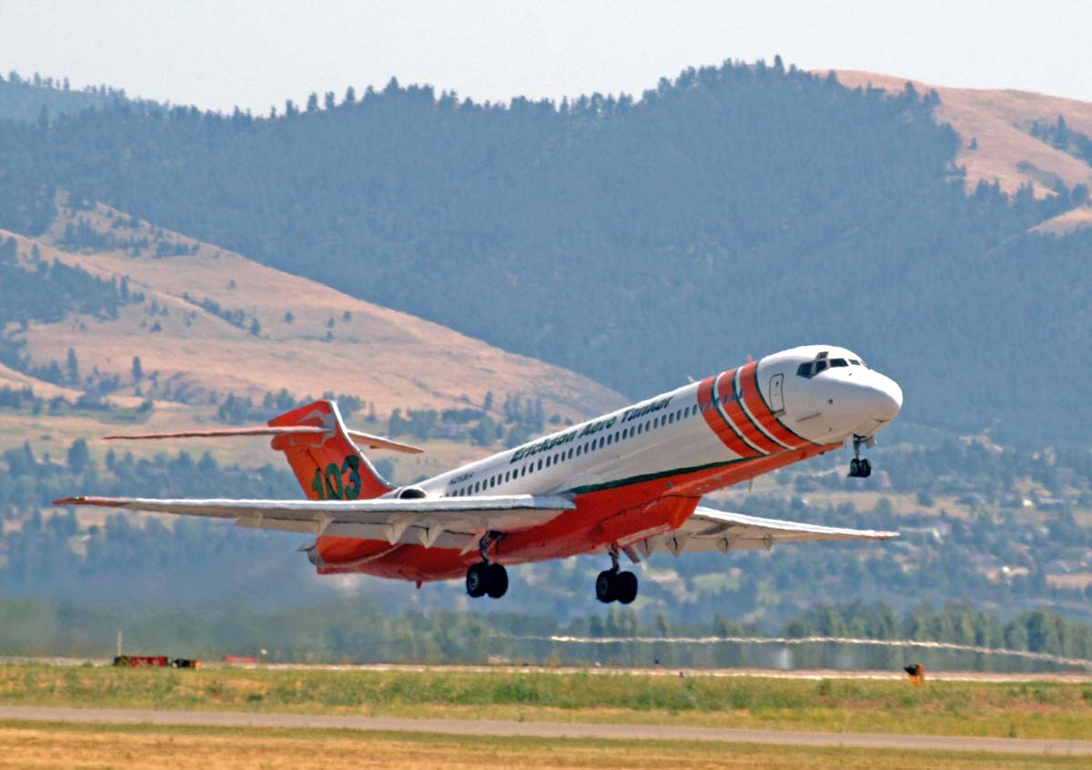 Tanker 103 departing Missoula