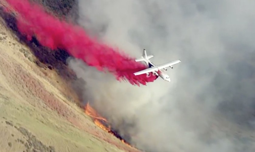 Air tanker 133 fire