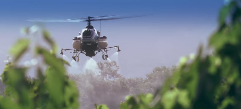 Yamaha brings their crop dusting helicopter drone to the U.S.