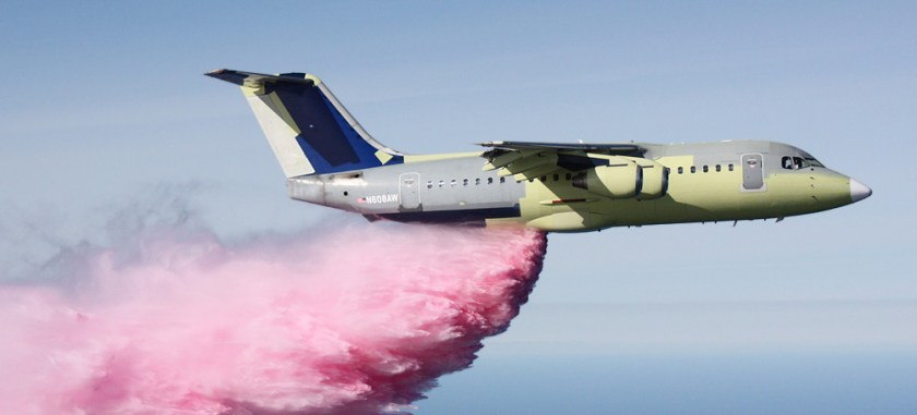 BAe-146-200 makes first drop
