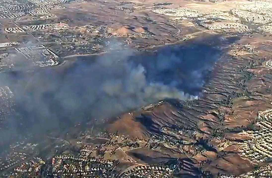Video of multiple air tankers working the Liberty Fire near Murrieta, CA