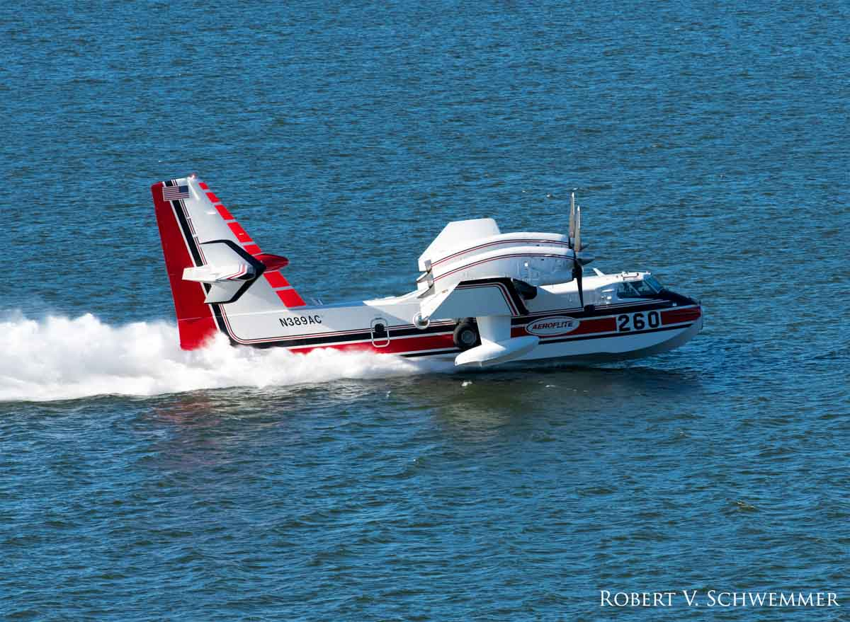 Scooping air tankers being used on Holy Fire in SoCal