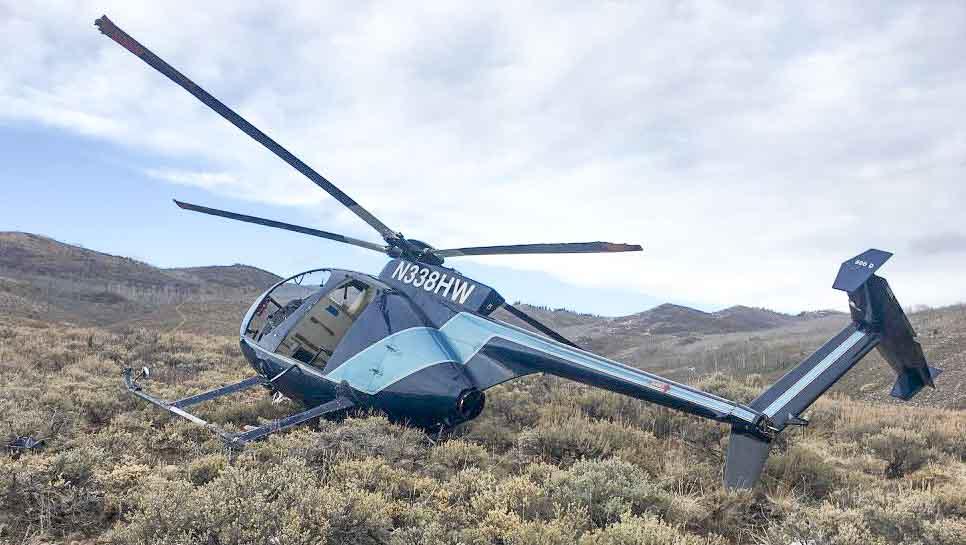 Elk brings down helicopter in Utah