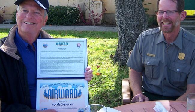 pilot Mark Oberman award