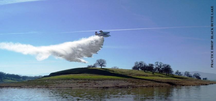 SEAT practice drop air tanker