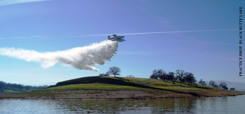 SEAT practice drop air tanker