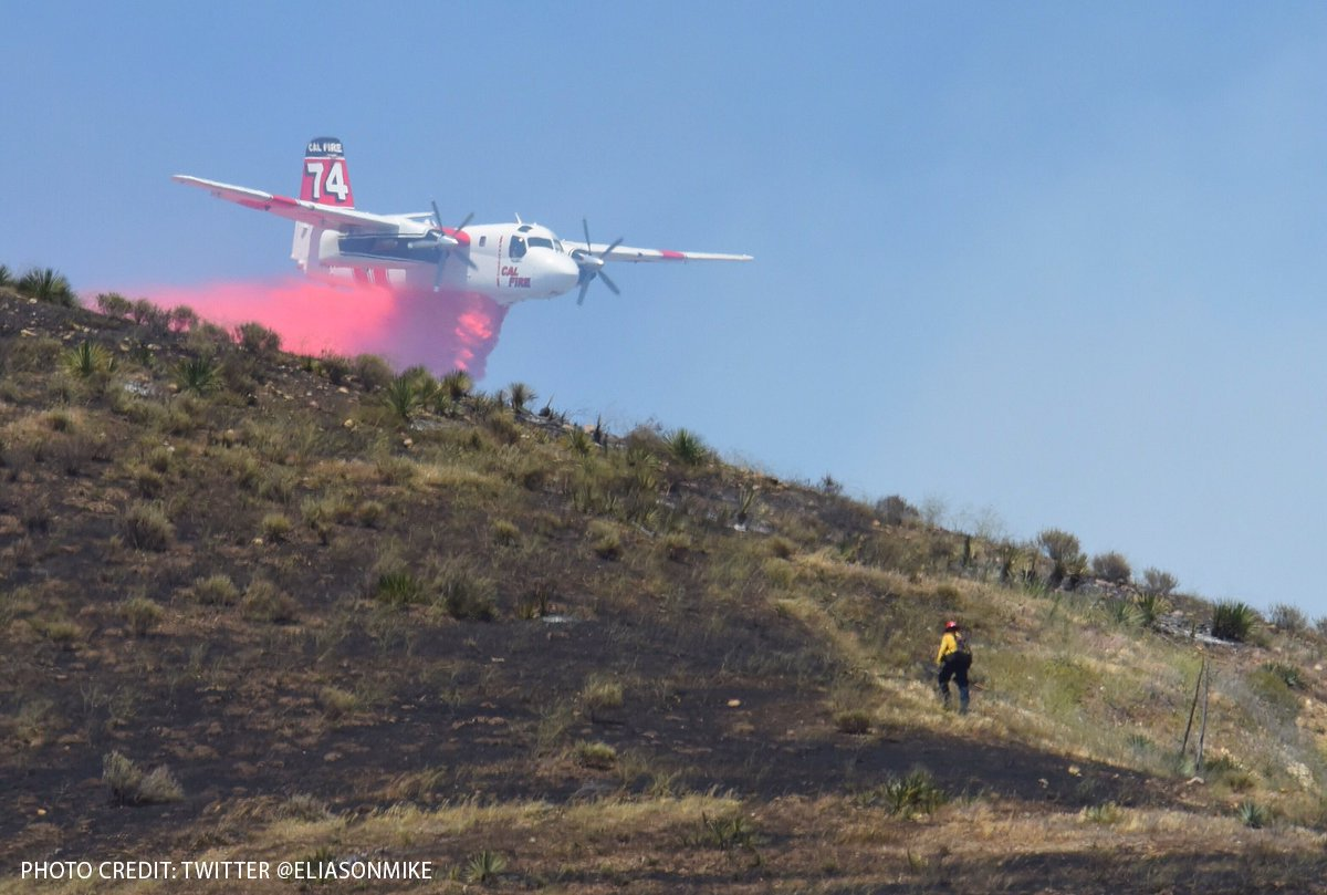 A stunning photo of Tanker 74 on the Happy Fire
