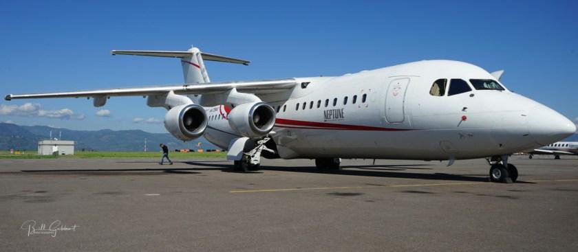 bae-146 Neptune Aviation air tanker wildfire
