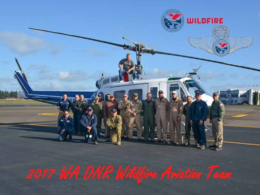 Washington DNR's UH-1H helicopters crew