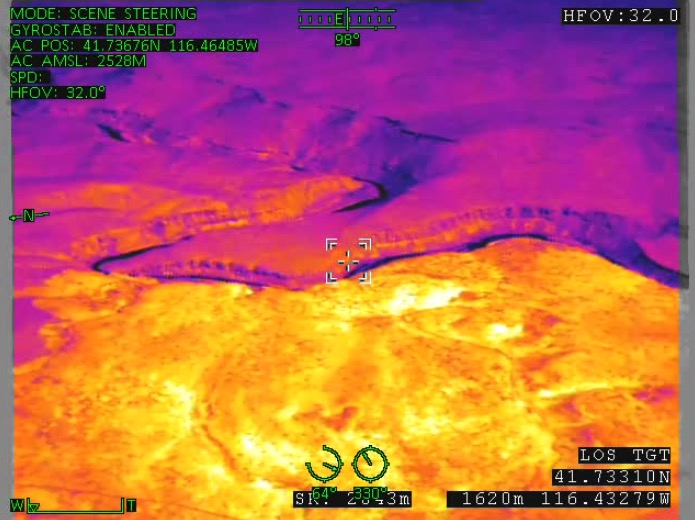 IR photo Martin Fire drone
