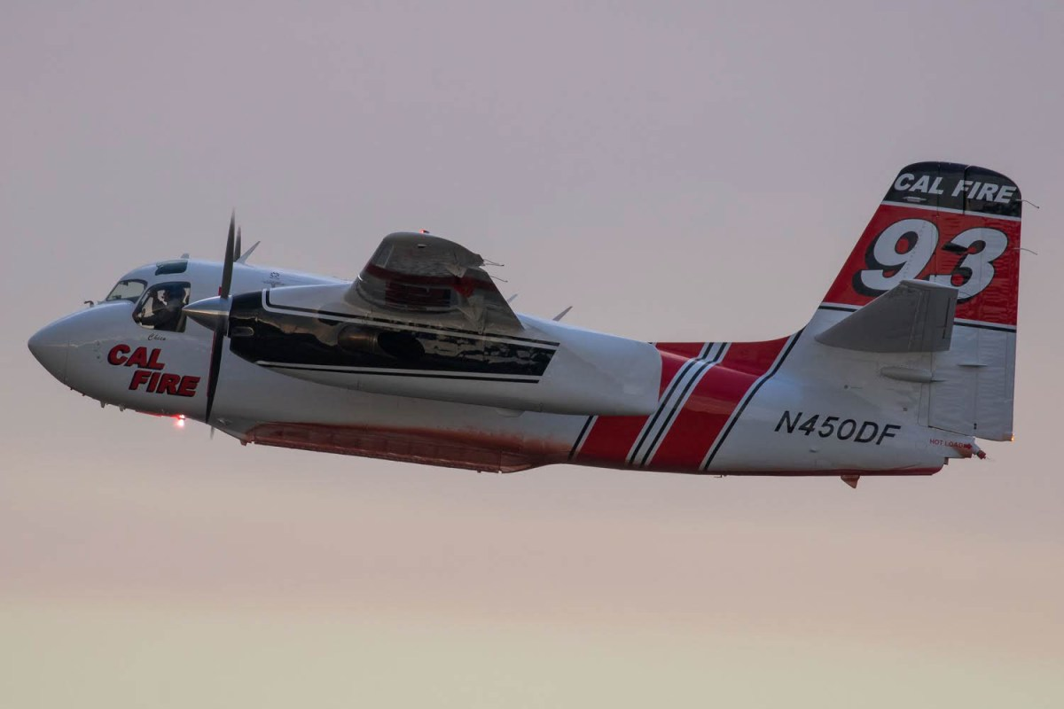 Air tankers at Medford fighting the Klamathon Fire