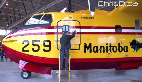 Manitoba CL-415 air tanker