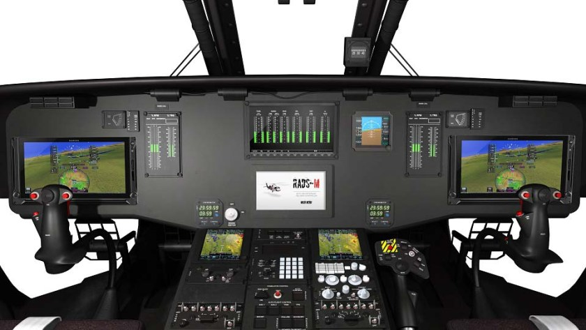 Coulson UH-60 cockpit