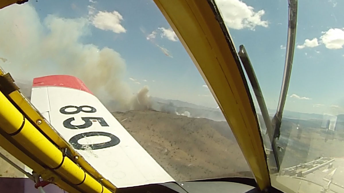 R-1 Ranch Fire air tanker drop