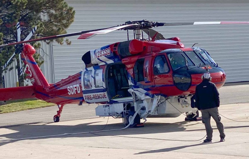 San Diego Fire-Rescue Firehawk helicopter new