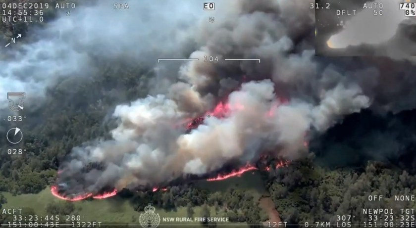 Three Mile Fire at Wisemans's Ferry