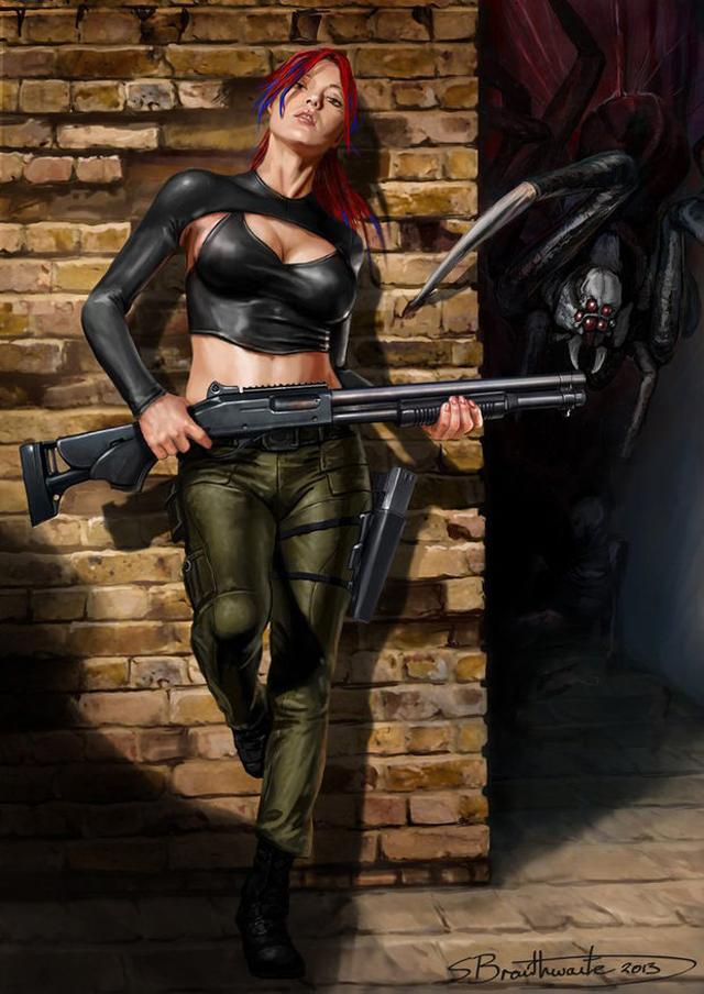 Badass Woman Concept Art