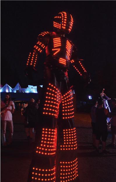 LED Stilt Robots