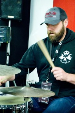 drummer trying Pete Riley's odd meter class