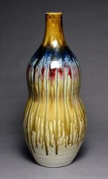 Bottle with Ash Glaze