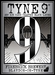 Tyne 9 - 3.9% ABV Black Lager