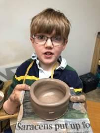 Pots on the wheel