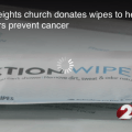 Local church donates wipes to their Fire Department to help firefighters prevent cancer