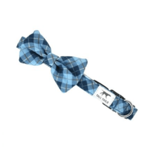 BLUE PLAID FASHION DOG COLLAR