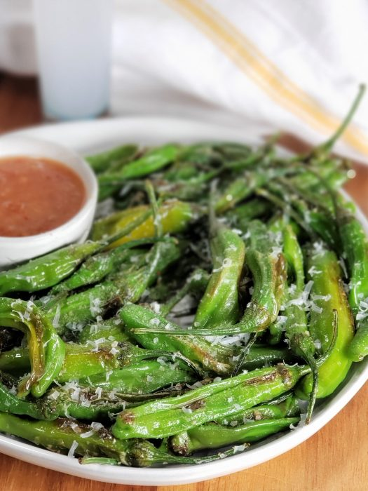 Air Fried Blistered Shishito Peppers