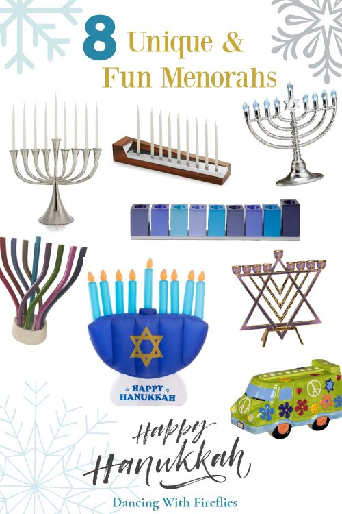 8 Unique and Fun Menorahs​