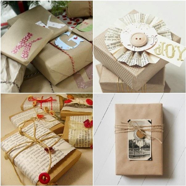 diy gift wrapping at