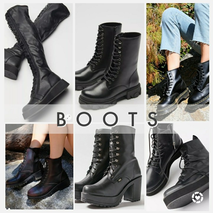 Boots from Urban Outfitters. Some of them are on sale.