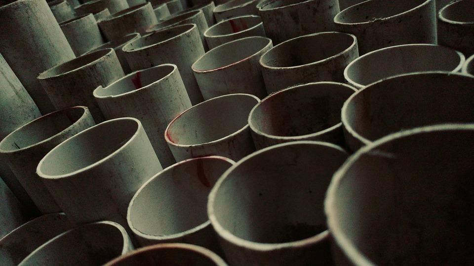 PVC plumbing tubes